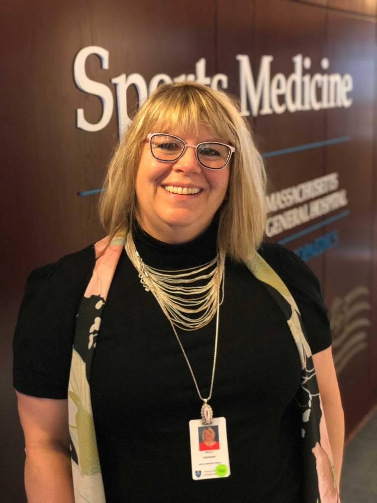 Paula Sheppard at MGH Sports Medicine Shoulder Surgery room